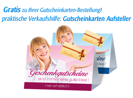"Gutschein-Klappkarten ""golden surprise"""