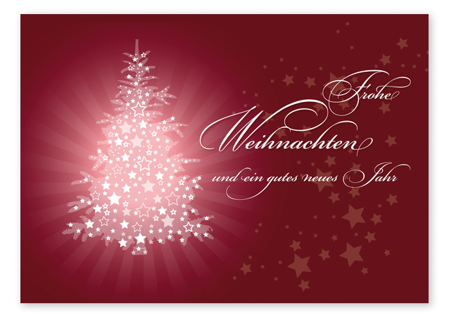 """Weihnachts-Postkarte """"red christmas"""""""