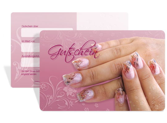 "Gutscheinkarte Cute Case ""nail art"""